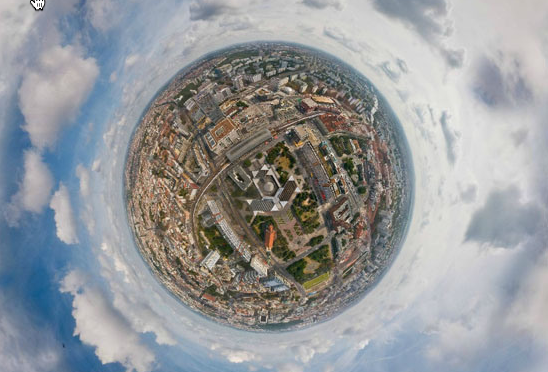 Aerial Panoramas without Flying
